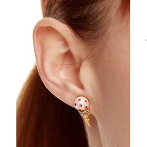 Kate Spade Ice Cream Cone stud earrings